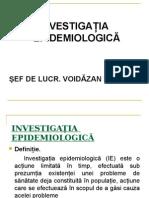 INVESTIGATIA EPIDEMIOLOGICA