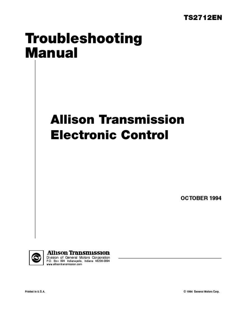 Allison | Transmission (Mechanics) | Throttle