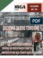 Concours de la résistance et de la déportation (collège Mayorga)