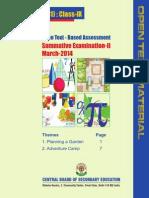 Mathematics Class Ix Open Text Based Assessment Sa II March 2014