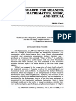The Search for Meaning, Mathematics, Music, And Ritual - Frits Staal
