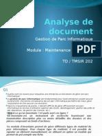 Analyse de Document GEStion Parc1
