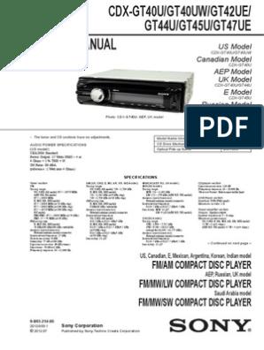 Sony Cdx C410 Wiring Diagram   Wiring Diagram Radio Wiring Diagram For Sony Xr C on