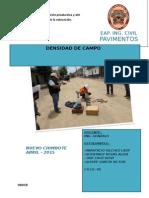 Inf. Densidad de Campo PAVIMENTOS