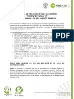 Manual de Procesos Para Usuarios de Postproduccion