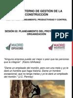Sesión 02 - Planeam y Organización