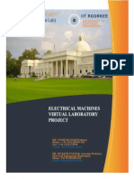 User Manual Electrical Machine Lab