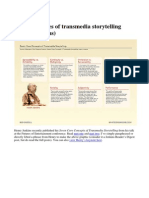 Core Principles of Transmedia Storytelling_jenkins Short Copy