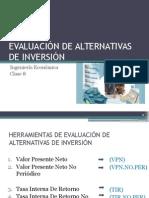 Cl 08_evaluación de Alternativas de Inversión