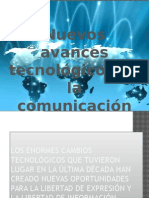 Nuevos Avances Tecnologicos en la comunicacion