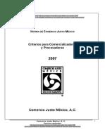 Anexo P291 Norma CJM Criterios Para Procesadoras y Comercializadoras Comercio Justo Mexico 2007