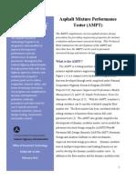 AMPT Asphalt Mixture Performance Tester (AMPT) - Tech Brief