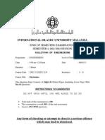 IIUM Electronics ECE 1312/ECE 1231 Final Exam Sem 1 (2012- 2013)
