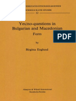 Yes/no-questions in Bulgarian and Macedonian