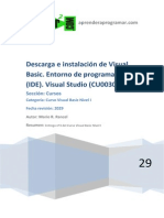 CU00304A Descarga e Instalacion y Entorno Programacion Visual Basic