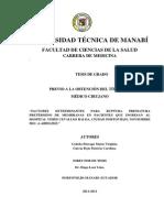 Factores Determinantes Para Ruptura Prematura de Membranas