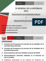Proyectos Inversion y Gasto Social 2012 MARIA CRISANTO