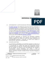 Memoria Descriptiva Comas