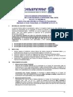 Ajuste de Notas en El Examen de Conocimientos Padme 2014 Aprobado Se Conareme 30.09.14