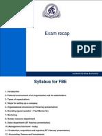 BEI - Lecture 14 Exam Recap
