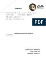 Análisis Final 2 Educación Tradicional vs Educacion Democrática 15005898 Mario José Rosa Sagastume