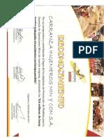 Diploma Yanacocha