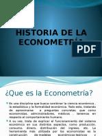 Historia de La Econometría