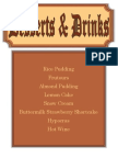 official dessert and drinks menu pdf