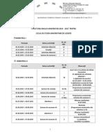Structura Anului Univ 2014 2015 Ciclul i