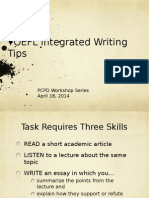 TOEFL Integrated Writing Essay