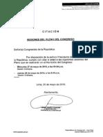 Citación Pleno del 27 y 28 de mayo 2015