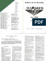 Jaque Indice de La Revista 1980-182