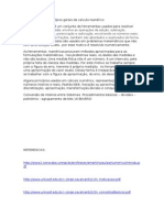 O s Conceitos e cxvgPrincípios Gerais de Calculo Numérico