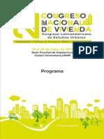Programa 2Congreso Nacional de Vivienda y 2CLEU-UNAM-URBARED 2015