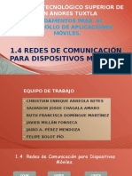1.4 Redes de Comunicacion Para Dispositivos Moviles
