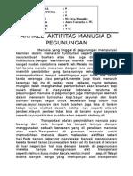 Artikel Aktifitas Manusia Di Pegunungan Aura