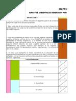 Matriz de Leopold Proyecto