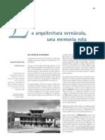 Arquitectura Vernacula Benavides Solís