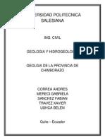 Universidad Politecnica Salesiana Trabajo Provincia de Chimborazo