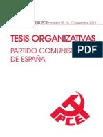 XIX Congreso del PCE - Tesis Organizativas Def