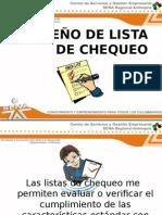 Diseño de Lista de Chequeo