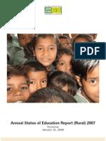 Annual Status of Education Report (Rural) 2007
