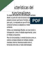 Características Del Funcionalismo