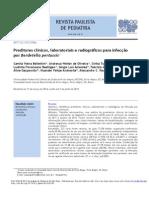 Preditores Clínicos, Laboratoriais e Radiográficos Para Infecção Pertussis