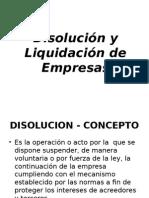 Disolución y Liquidación de Empresas