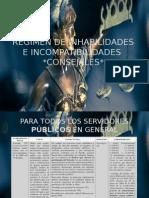 Regimen de Inahbilidades e Incompatibilidades de Los Consejales