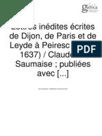 Les Correspondants de Peiresc_Claude de Saumais