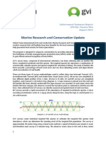 Marine Research and Conservation Update