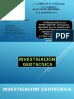 metodologia de la investigacion geotecnica