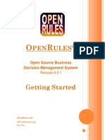 Open Rules Getting Started